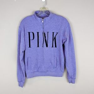 PINK Victoria's Secret | Purple Half Zip Top - W11